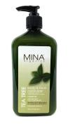 Tea Tree Body & Face Moisturiser 530ml (Paraben FREE) with Pump by Mina Organics. Factory Fresh!