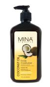 Coconut Oil Body Moisturiser 530ml (Paraben FREE) by Mina Organics. Factory Fresh!