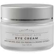 CalilyLife Hyaluronic Acid Eye Cream with Dead Sea Minerals, 30ml– Deeply Hydrates, Nourishes Skin & Fights Wrinkles - Minimises Fine Lines, Reduces Puffiness & Dark Circles, Locks Natural Moisture