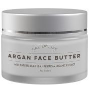 CalilyLife Organic Argan Face Cream with Dead Sea Minerals, 50ml – Ultra-Hydrating - Anti-Wrinkle and Anti-Ageing - Smooths, Moisturises and Regenerates