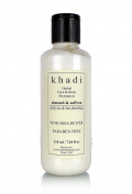 Khadi Natural Almond & Saffron Moisturiser - Paraben Free 210ml By Indianbudgetstore by Khadi Natural