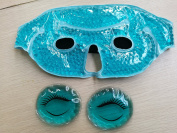 Eye Mask with Gel Beads PLUS Eye Pads, Great for Pain Relief, Reusable Hot and Cold Therapy Compress