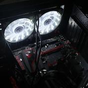 Tuscom 15 LED Light Quite 120mm DC 12V 4Pin PC Computer Case Cooling Cool Fan Mod