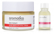 Aromatica Rose Absolute Vital Cream 50g (1.7oz) & Aromatica Rose Absolute First Serum 20ml (0.6fl oz) Set