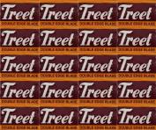 Treet Carbon Steel Double Edge Razor Blades, 200 blades