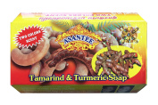 Asantee Natural Herbal Tamarind with Turmeric Honey Soap Whitening Thai Brand for Face Acne Eczema Organic Bar for Men & Women Body from Thailand 125g