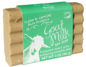 Simply Be Well Goat Milk Exfoliating Bar Soap - Certified Organic Ingredients- No Artificial Colours, No GMOs, Paraben & Gluten Free 120ml