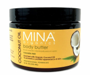 Coconut Oil Body Butter 350ml Jar (Paraben FREE) by Mina Organics. Factory Fresh!