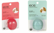 EOS Smooth Sphere Lip Balm Combo Pack, Summer Fruit and Sweet Mint, .740ml Per Sphere