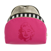 Marilyn Monroe Nested Set of 3 Cosmetic Cases - Pink Marilyn Print