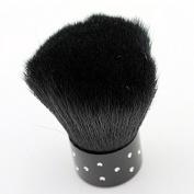 Medius Foundation Powder Dust Flocking Remover Brush Cheek Makeup Black