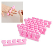 Insten 30-piece Set Pink Toe/ Finger Separators for Manicure/ Pedicure