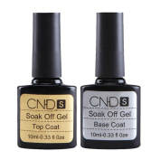 ☀ KESEE 2 pcs Top coat + Base coat Uv Gel Nail Polish Primer Nail Art CNHIDS