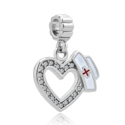 CandyCharms Heart Nurse Dangle Charms Beads For Bracelets