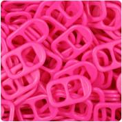 BEADTIN Magenta Pink Neon Bright 25mm Plastic Soda Pop Tabs