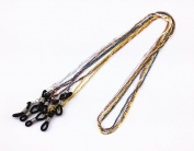 Honbay 4pcs Colourful Metal Beaded Sunglass Chain Eyeglasses Chain Neck Cord