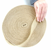 Burlap Ribbon by the Roll. Huge 50 Yards Jute Spool by Drency. 2.5cm