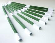 ICRAFY GAUGE 60cm Wire Stem Floral Long 30cm Craft Embellishment supply Dark Green colour 100 pcs. per a pack.