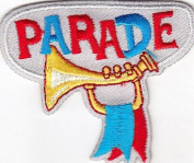 """PARADE"" - HOLIDAY - PATRIOTIC - BAND - MARCHING - IRON ON EMBROIDERED PATCH"