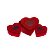 Glitter Heart Window Treat Boxes 3 Count