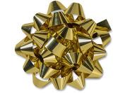 Nashville Wraps Confetti Bow 50 Count 10cm - Gold Metallic