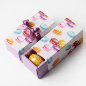INDIGOSHOP Macaron Paper Gift Box 5EA in set 4 Colours 2.5X5.4X2.7(in) Purple