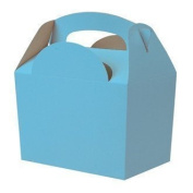 Party Bags 2 Go Bright Blue Party Food Boxes, 10 Supplied