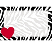 burton + BURTON Zebra Enclosure Card with Heart, Pack of 50
