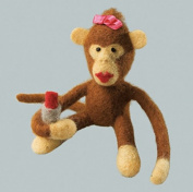 Felting kit Charivna mit #B-102 Julia monkey 11x10 cm / 4.33x3.94 in