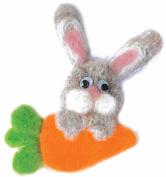 Felting kit Charivna mit #B-02 Fan of carrot animals smile 11x8 cm / 4.33x3.15 in