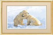 Embroidery Counted cross stitch kit Charivna mit #А-087 White bears Winter Friends 25.5x17 cm / 9.84x6.69 in