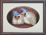Embroidery Counted cross stitch kit Charivna mit #А-074 Owlets Birds 18x13 cm / 7.09x5.12 in