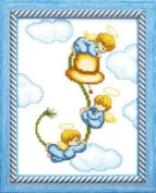 Embroidery Counted cross stitch kit Charivna mit #A-070 Angels 13x17 cm / 5.12x6.69 in