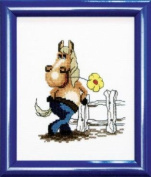 Embroidery Counted cross stitch kit Charivna mit #А-049 Horse Animals 15x18 cm / 5.91x7.09 in