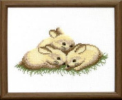 Embroidery Counted cross stitch kit Charivna mit #А-039 Rabbits Animals 18x15 cm / 7.09x5.91 in