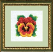 Embroidery Beadwork kit Charivna mit #B-014 Home a bouquet of Gorgeous Flowers Beauty 12x12 cm / 4.72x4.72 in