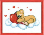 Embroidery Counted cross stitch kit Charivna mit #М-156 Bear-cub on the cloud , For kids 16x13 cm / 6.30x5.12 in