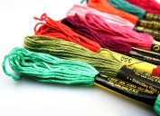 BECUTE 100pcs Polyester Cotton Sewing Threads Embroidery Floss Mixed Colour 7.9m