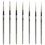 Russian Pure Sable Long and Medium Liner Brush Set Sizes Long 20/0-3/0-0 Medium 20/0-10/0-0-2 Made in Germany