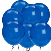 The Elixir Deco 100 Count Dark Blue Latex Decorator Quality Birthday Wedding Decor Party Balloon