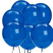 The Elixir Deco 100 Count Dark Blue Latex Decorator Quality Birthday Wedding Decor Party Balloon