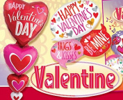 Valentine Balloons 250cm - 46cm Valentine Foil Helium Balloons