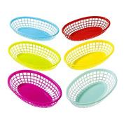 Talking Tables FST4-BASKET Plastic Food Baskets Party Decor (6 Pack), Multicolor