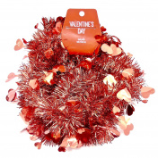 Jo-ann's Valentine's Heart Garland,Red Tinsel with Hearts,2.7m