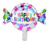 Candy Happy Birthday Candy Shape Balloon Mylar Foil Party Decoration Jumbo 100cm