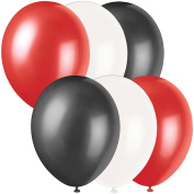 Veil Entertainment Atlanta Falcons 6pc 28cm Latex Balloons, Red Black White