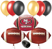 San Francisco 49ers NFL Football Balloon Decorating Party Pack 10pc
