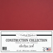 Electric Red Cardstock from Cardstock Warehouse 30cm x 30cm 80# Cover - 25 Sheets
