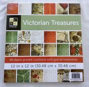 DCWV Victorian Treasures Cardstock Paper Stack 48 Sheets