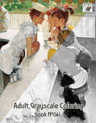 Adult Colouring Book (24 pages 20cm x 28cm /A4) Children Everyday Life by Norman Rockwell FLONZ Vintage Designs for Grayscale Colouring